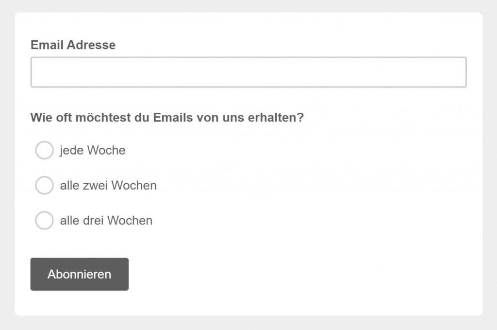 mailchimp weniger emails frequenz gruppen segmente ändern