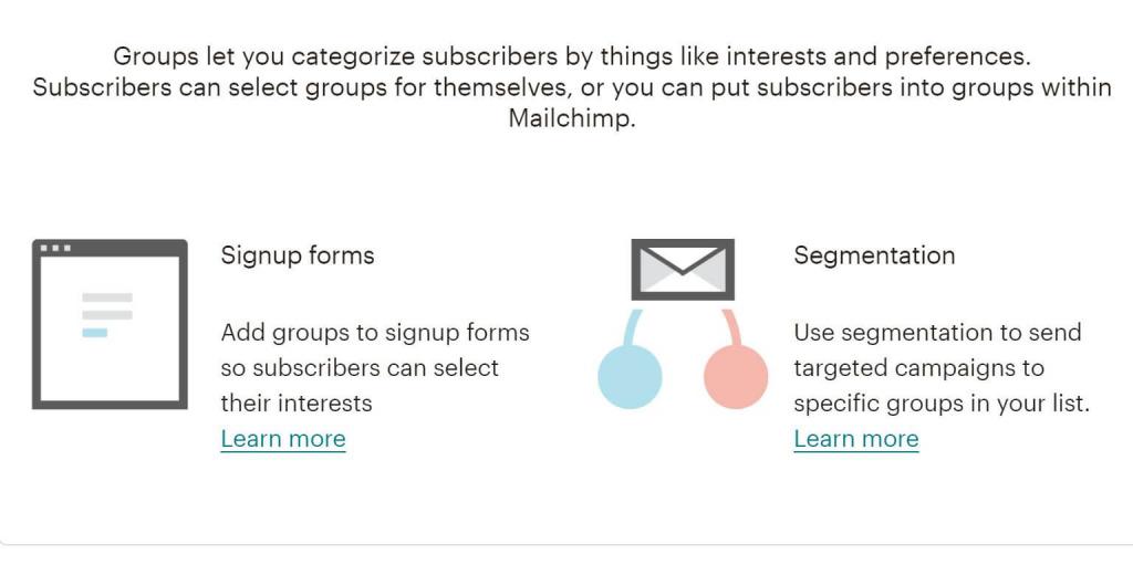 mailchimp groups segmentierung
