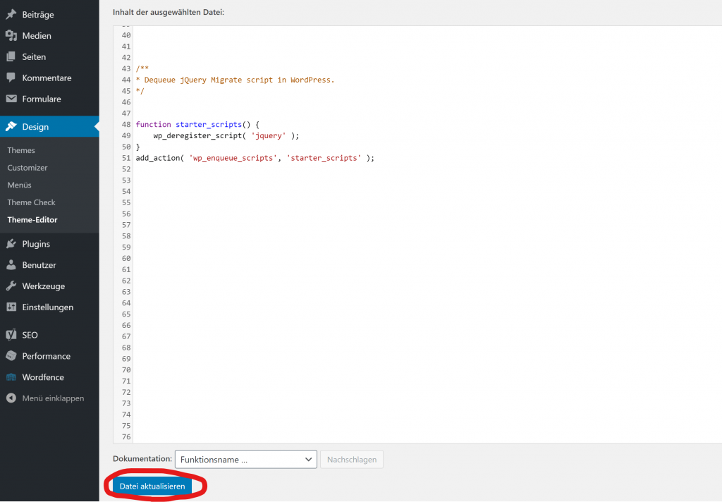 wordpress optimize delete jquery migrate